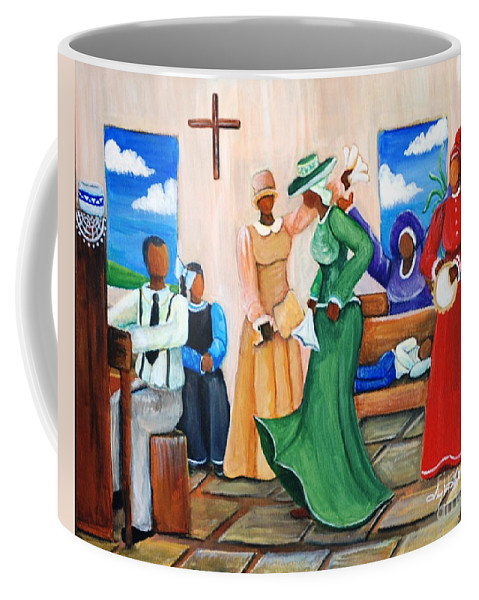 Authentic Coffee Mug featuring the painting Rejoicing by Sonja Griffin Evans