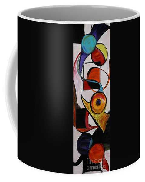 Shapes Coffee Mug featuring the painting Relationships by Nadine Rippelmeyer