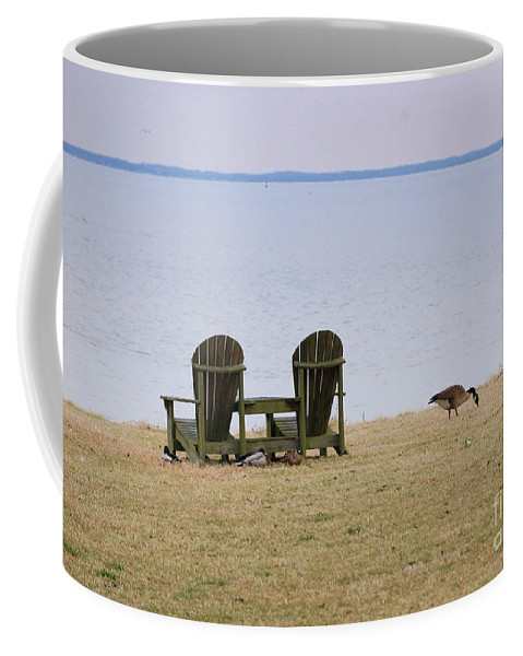Chairs Coffee Mug featuring the photograph Relax by Debbi Granruth