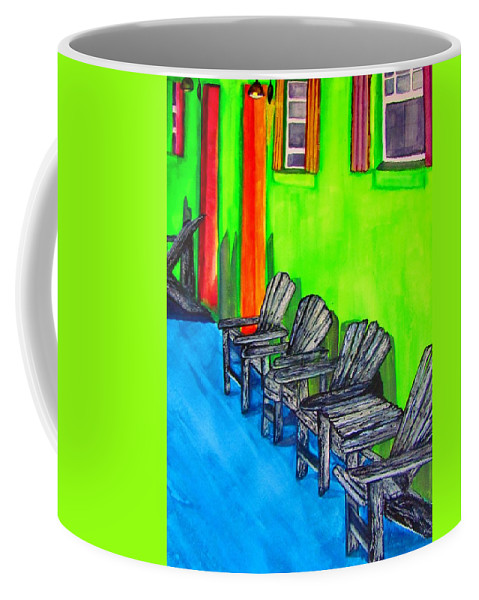 Tropical Coffee Mug featuring the painting Relax by Lil Taylor