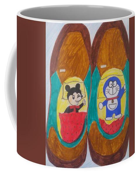 Cartoon Characters Coffee Mug featuring the painting Relax Time by Seema Sharma
