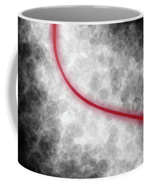 Relaxed Flow Coffee Mug featuring the digital art Relaxed Flow by Kris Haney Sirk Designs Ltd