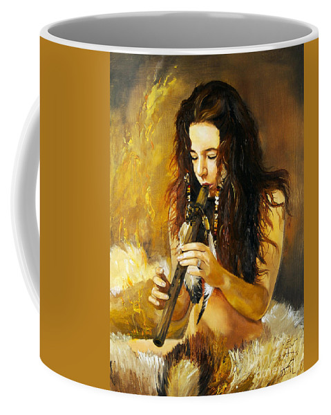 Woman Coffee Mug featuring the painting Release by J W Baker