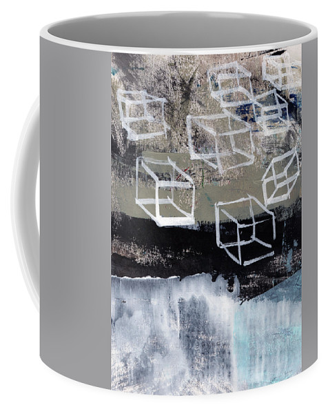 Contemporary Abstract Coffee Mug featuring the painting Released- Abstract Art by Linda Woods