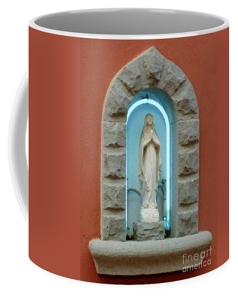 Religion Coffee Mug featuring the photograph Religious Icon Mary by John Malone