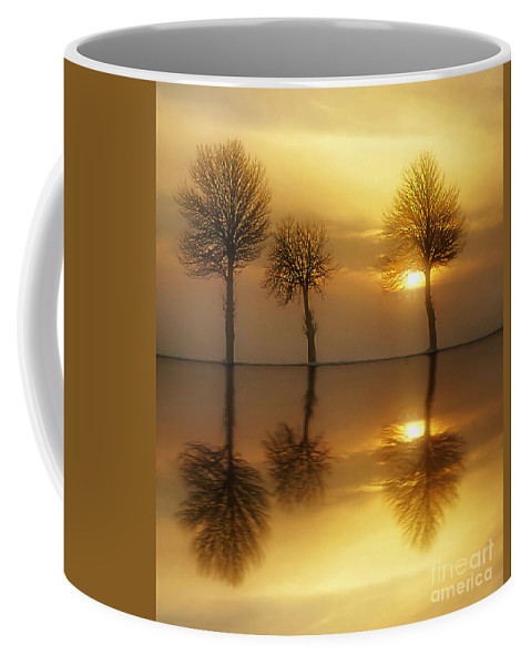 Sunset Coffee Mug featuring the photograph Remains Of The Day by Jacky Gerritsen