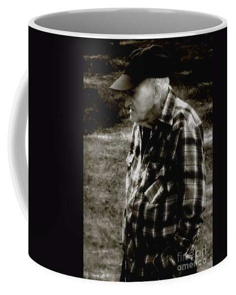 Farmer Coffee Mug featuring the photograph Remembering Hard Times by RC DeWinter