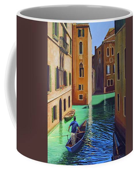 Canal In Venice Coffee Mug featuring the painting Remembering Venice by Hunter Jay