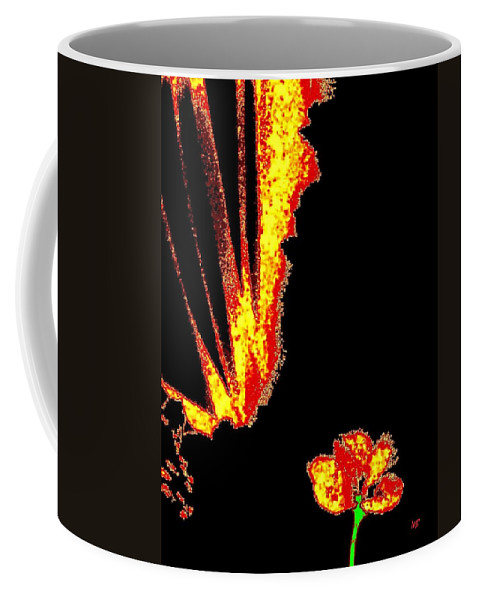 Abstract Coffee Mug featuring the digital art Reminiscence by Will Borden