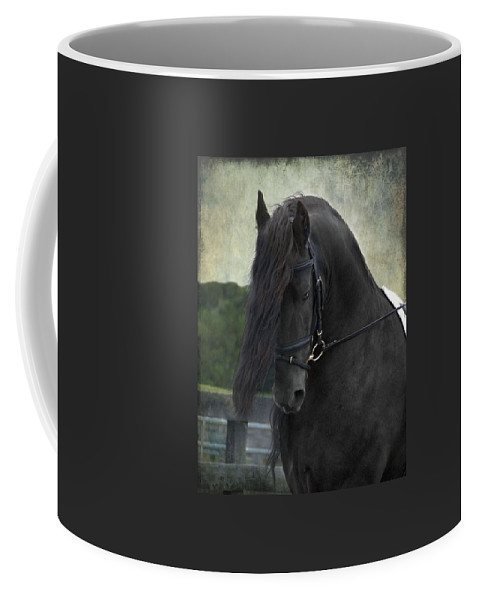 Horses Coffee Mug featuring the photograph Remme by Fran J Scott