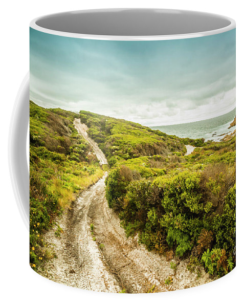 Granville Harbour Coffee Mug featuring the photograph Remote Australia Beach Trail by Jorgo Photography - Wall Art Gallery
