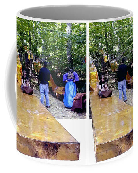3d Coffee Mug featuring the photograph Renaissance Slide - Gently Cross Your Eyes And Focus On The Middle Image by Brian Wallace
