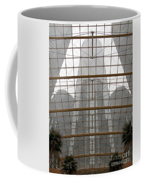 Detroit Coffee Mug featuring the photograph Rencen From Within by Ann Horn
