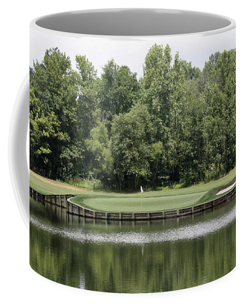 Renditions Coffee Mug featuring the photograph Renditions Golf - 13th by Ronald Reid