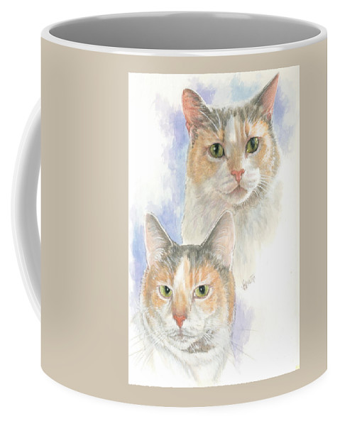 Domestic Coffee Mug featuring the mixed media Reno by Barbara Keith