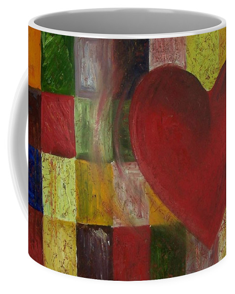 Heart Coffee Mug featuring the painting Resilience After Jim Dine by Maria Milazzo
