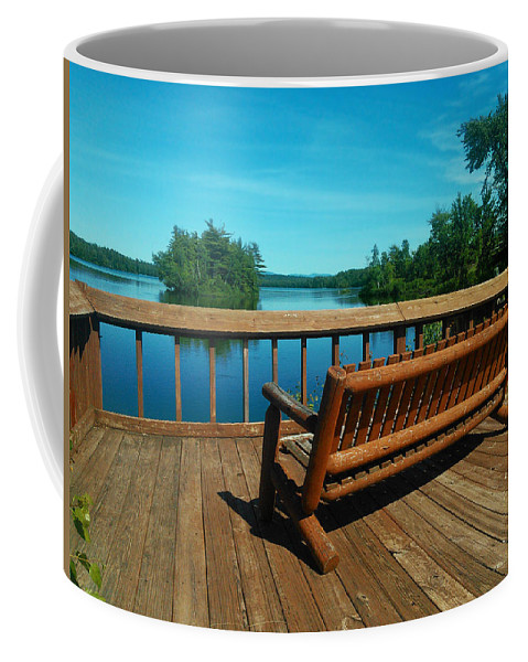 Tupper Lake Coffee Mug featuring the photograph Rest A While by Amanda Jones