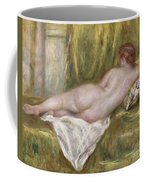 Renoir Coffee Mug featuring the painting Rest After The Bath by Pierre Auguste Renoir