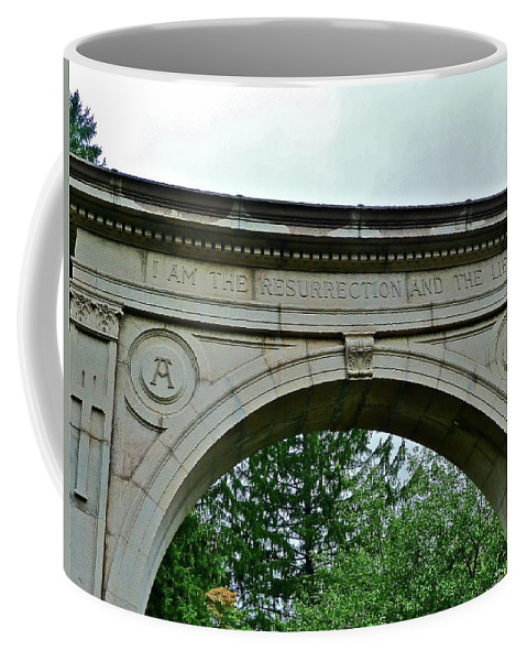 Cemetery Coffee Mug featuring the photograph Rest In Peace by Diana Hatcher