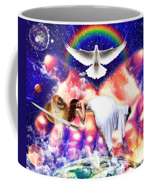 Warrior Bride Coffee Mug featuring the digital art Rest In The Lord by Dolores Develde
