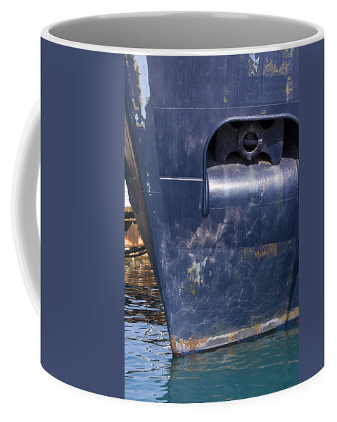 Chicago Windy City Lake Michigan Ship Boat Wave Reflection Water Steel Metal Blue Sun Sunny Coffee Mug featuring the photograph Resting by Andrei Shliakhau