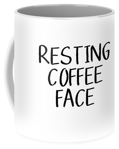 Resting Coffee Face-art By Linda Woods Coffee Mug