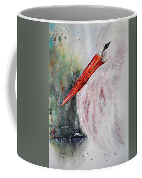 Natural Coffee Mug featuring the painting Resting by Lisa Cini