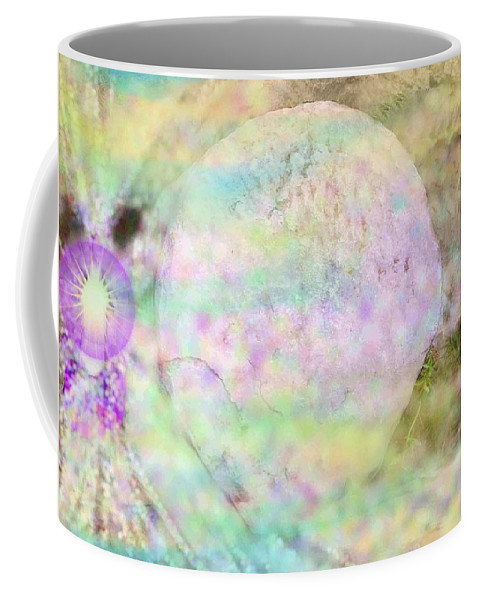 Easter Coffee Mug featuring the photograph Resurrection Event-no Rock Could Hold Him In Garden Tomb Vision Jerusalem 2008 by Anastasia Savage Ealy