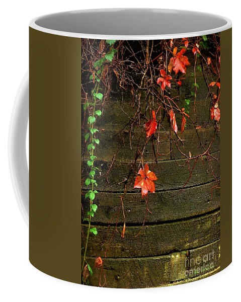 Autumn Coffee Mug featuring the painting Retaining Wall In Autumn by RC DeWinter