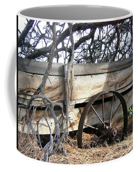 #retiredfarmwagon Coffee Mug featuring the photograph Retired Farm Wagon by Will Borden