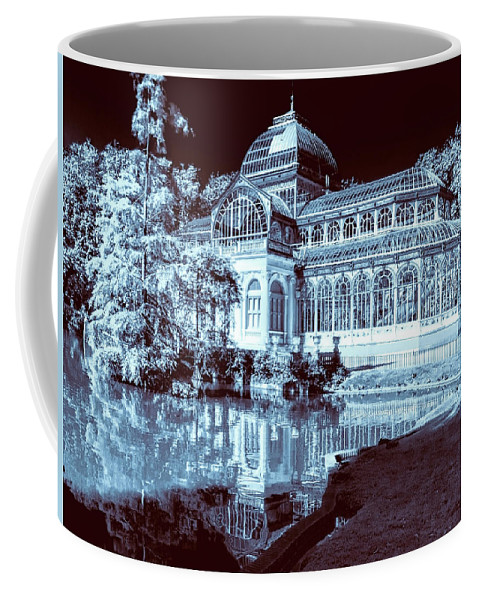 Spain Coffee Mug featuring the photograph Retiro Park Crystal Palace by Claude LeTien