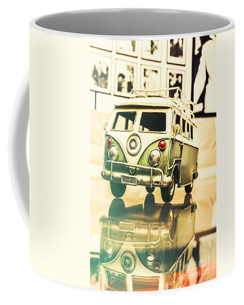 Vehicle Coffee Mug featuring the photograph Retro 60s Toy Van by Jorgo Photography - Wall Art Gallery