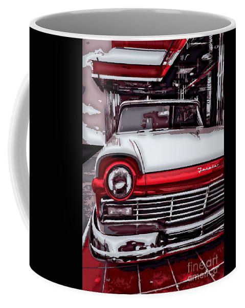 Retro Coffee Mug featuring the digital art Retro Diner by Dan Stone