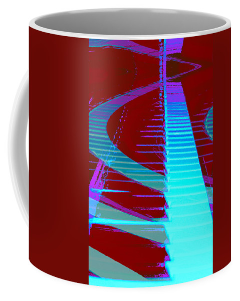 Piano Art Coffee Mug featuring the photograph Retro Keys by Linda Sannuti