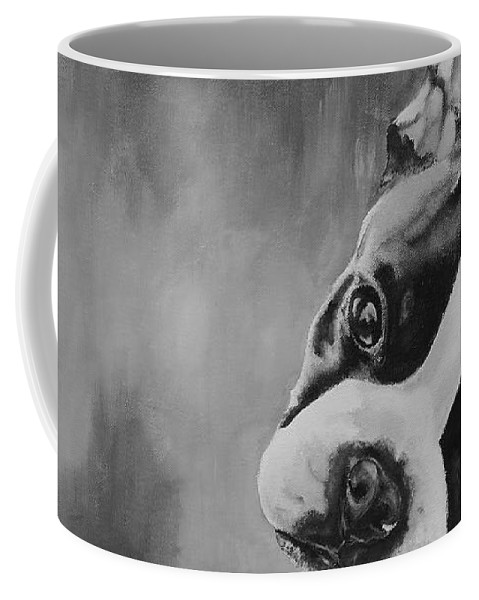 Animal Coffee Mug featuring the painting Reuben's Summer by Susan Herber