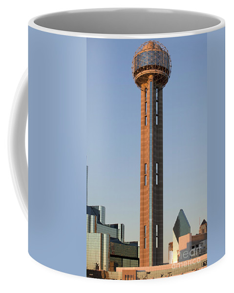 America Coffee Mug featuring the photograph Reunion Tower - Dallas Texas by Anthony Totah
