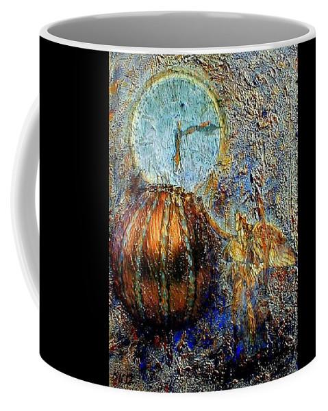 Christian Coffee Mug featuring the mixed media Revelation by Gail Kirtz
