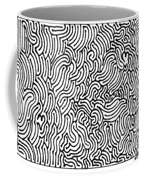Mazes Coffee Mug featuring the drawing Revelation by Steven Natanson