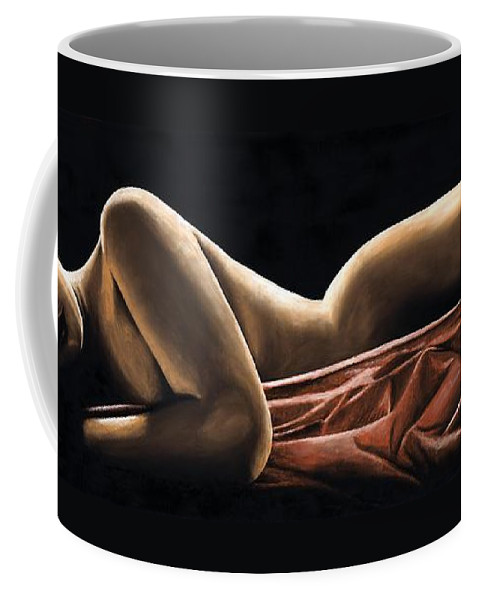 Nude Coffee Mug featuring the painting Reverie by Richard Young