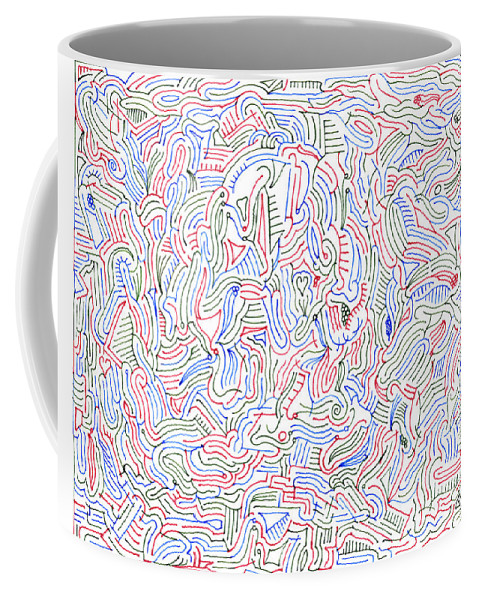 Mazes Coffee Mug featuring the drawing Reverie by Steven Natanson