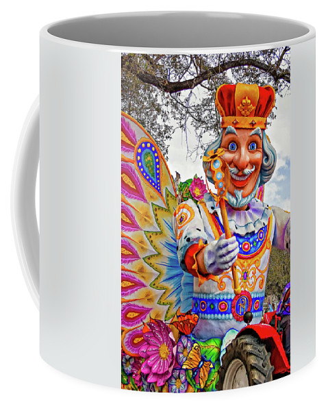 New Orleans Coffee Mug featuring the photograph Rex Rides In New Orleans by Steve Harrington