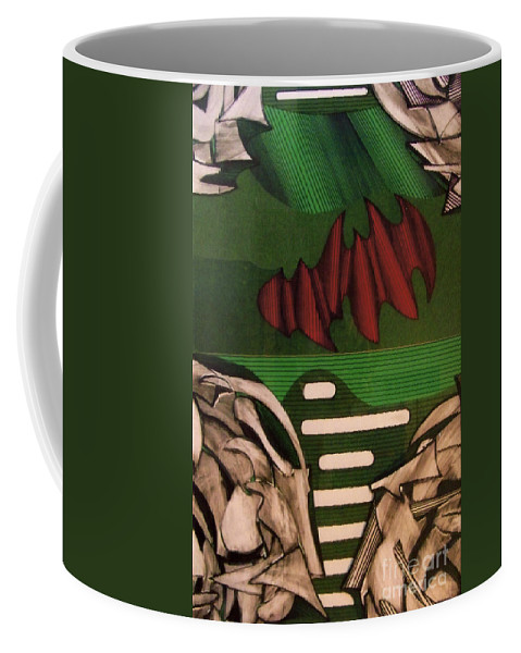 Abstract Coffee Mug featuring the drawing Rfb0110 by Robert F Battles