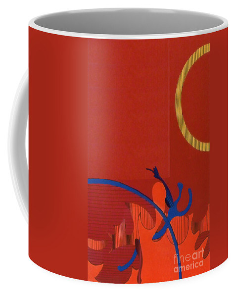 Autum Leaves Abstract Coffee Mug featuring the drawing Rfb0118 by Robert F Battles