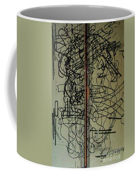 Draft Board Coffee Mug featuring the drawing Rfb0203 by Robert F Battles