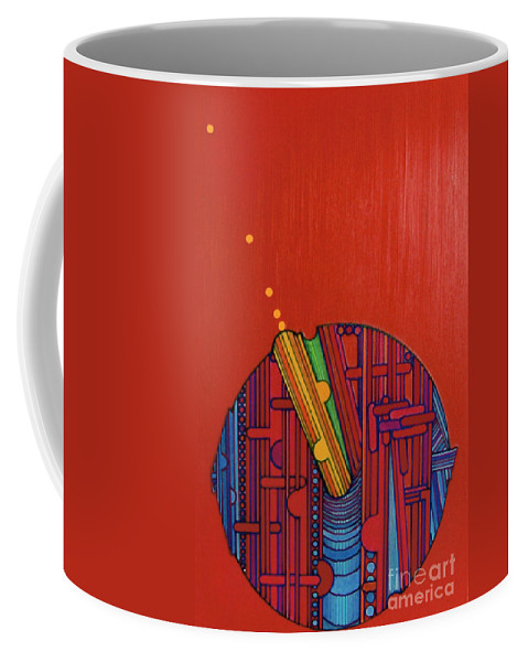 Orange Sparks Coffee Mug featuring the drawing Rfb0302 by Robert F Battles