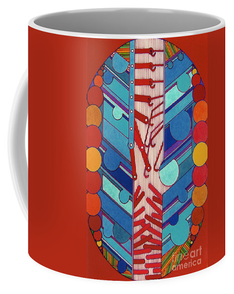 Abstract Coffee Mug featuring the drawing Rfb0304 by Robert F Battles