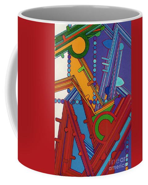 Purple Coffee Mug featuring the drawing Rfb0306 by Robert F Battles