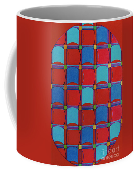 Checkered Pattern Coffee Mug featuring the drawing Rfb0324 by Robert F Battles