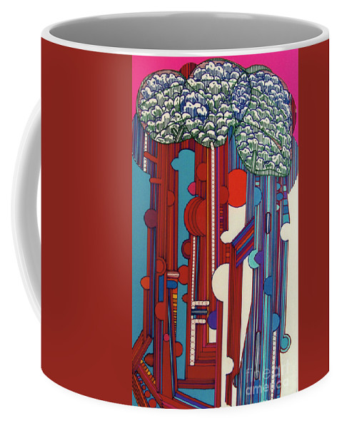 Abtract Coffee Mug featuring the drawing Rfb0327 by Robert F Battles
