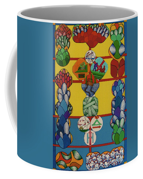 Abstract Coffee Mug featuring the drawing Rfb0330 by Robert F Battles